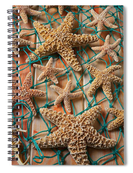 Starfish In Net Spiral Notebook