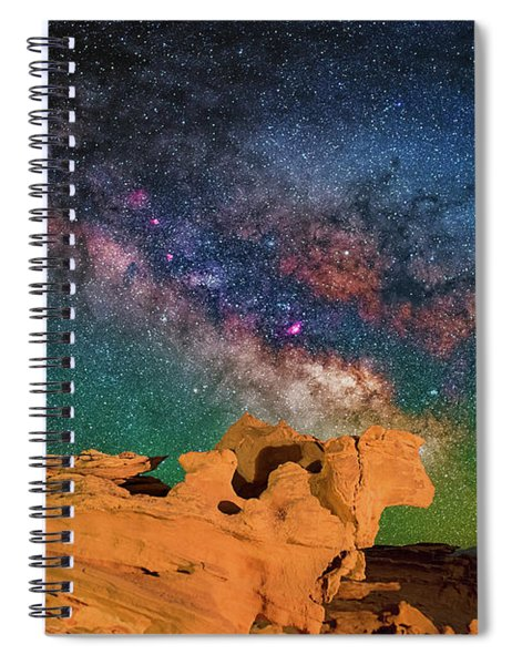 Stargazing Bull Spiral Notebook