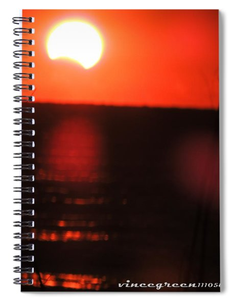 Staring Into A Star Eclipsed Spiral Notebook