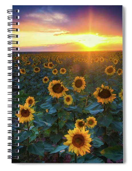 Spiral Notebook featuring the photograph Staring Into The Sun by John De Bord