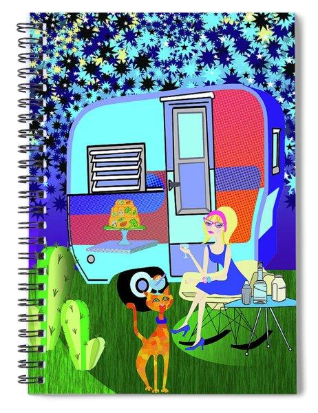 Starlight Night Spiral Notebook