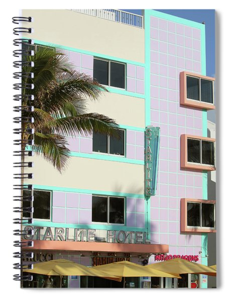 Starlite Hotel - Miami Beach Spiral Notebook