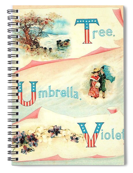 Starry Flag Abc T To V Spiral Notebook