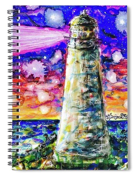 Starry Light Spiral Notebook