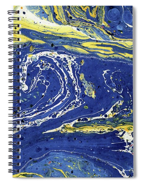 Starry Night Abstract Spiral Notebook