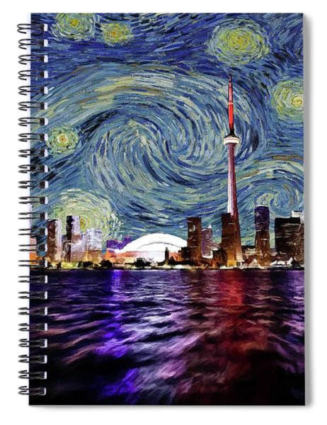 Starry Night Toronto Canada Spiral Notebook by Movie Poster Prints