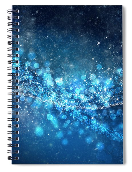 Stars And Bokeh Spiral Notebook