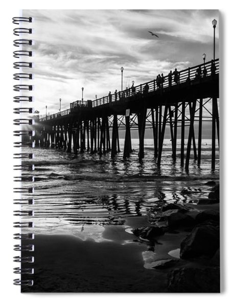 Stars And Swirls In Oceanside Spiral Notebook