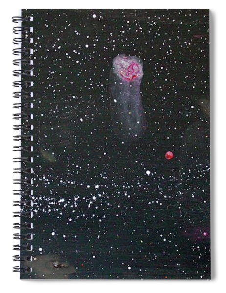 Spiral Notebook featuring the painting Starry Night by Michael Lucarelli