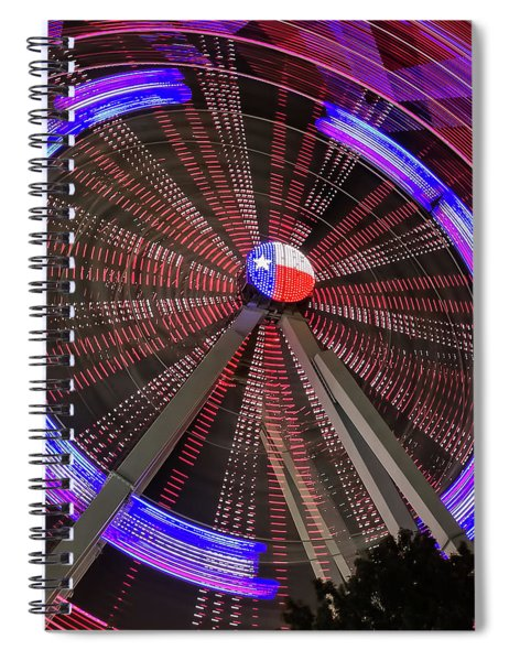 Spiral Notebook featuring the photograph State Fair Of Texas Ferris Wheel by Robert Bellomy