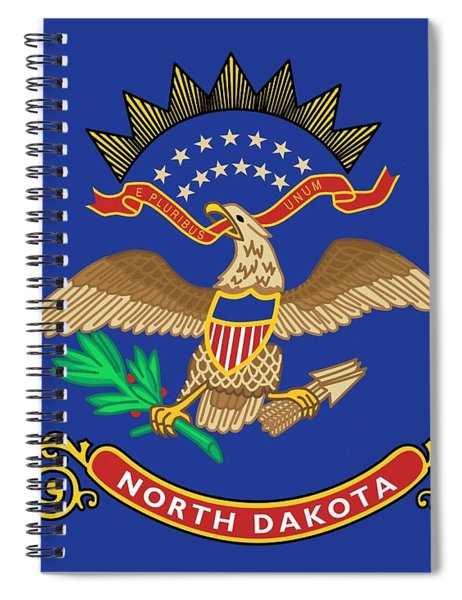 State Flag Of North Dakota Spiral Notebook