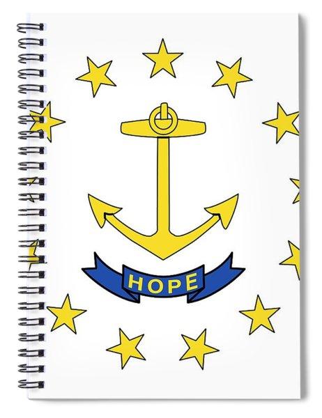State Flag Of Rhode Island Spiral Notebook