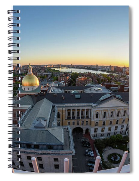 State House,fisheye View Spiral Notebook