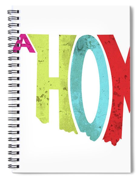 State Of Oklahoma Typography Spiral Notebook