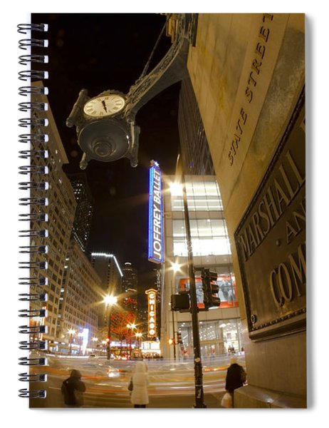 State Street Night Scene Spiral Notebook
