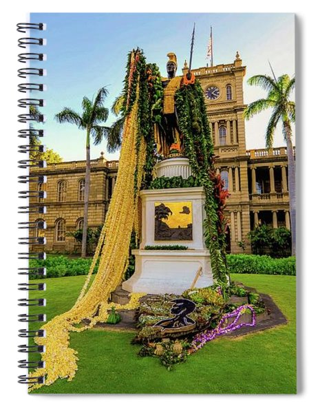 Statue Of, King Kamehameha The Great Spiral Notebook