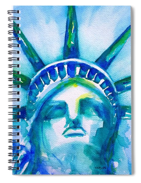 Statue Of Liberty Head Abstract Spiral Notebook