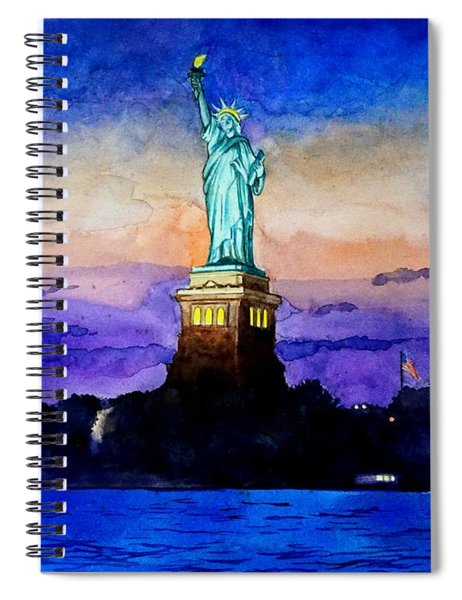 Statue Of Liberty New York Spiral Notebook