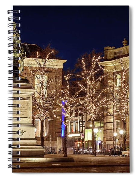 Spiral Notebook featuring the photograph Statue Of William Of Orange - The Hague by Barry O Carroll