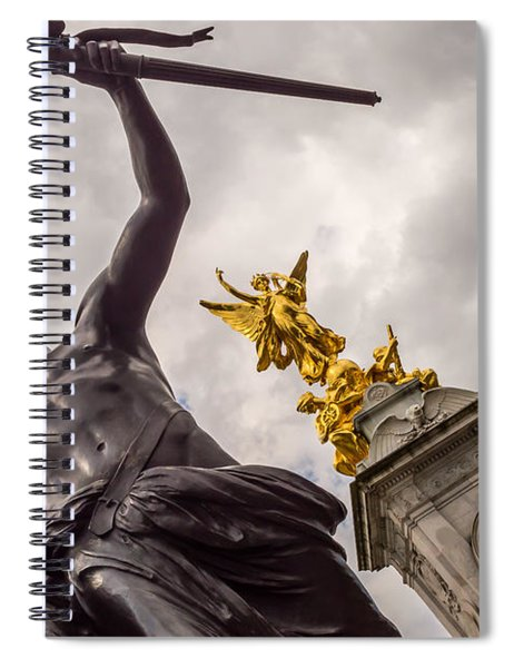 Statues In Front Of Buckingham Palace Spiral Notebook