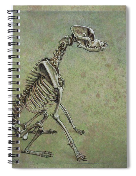 Spiral Notebook featuring the drawing Stay... by James W Johnson