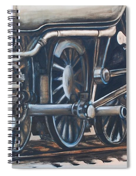 Steam Engine Wheels Spiral Notebook