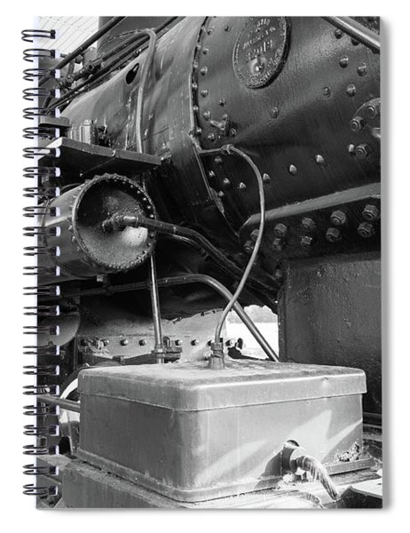 Spiral Notebook featuring the photograph Steam Locomotive Side View by Doug Camara