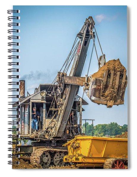 Steam Powered Shovel Spiral Notebook