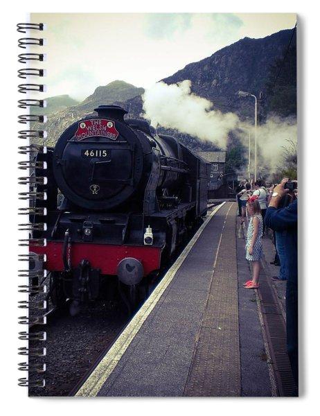 Steam Train, Ffestiniog, North Wales Spiral Notebook