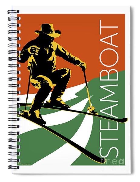 Steamboat Orange Spiral Notebook