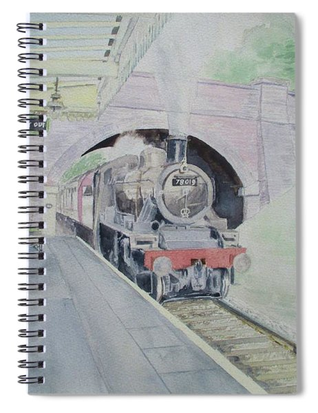 Steaming Into Rothley Spiral Notebook