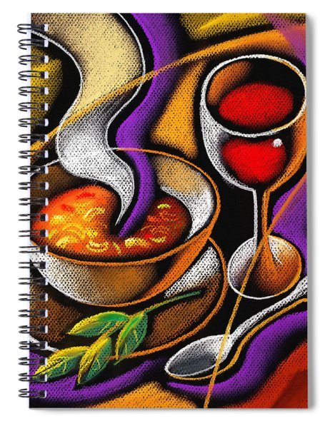 Steaming Supper Spiral Notebook