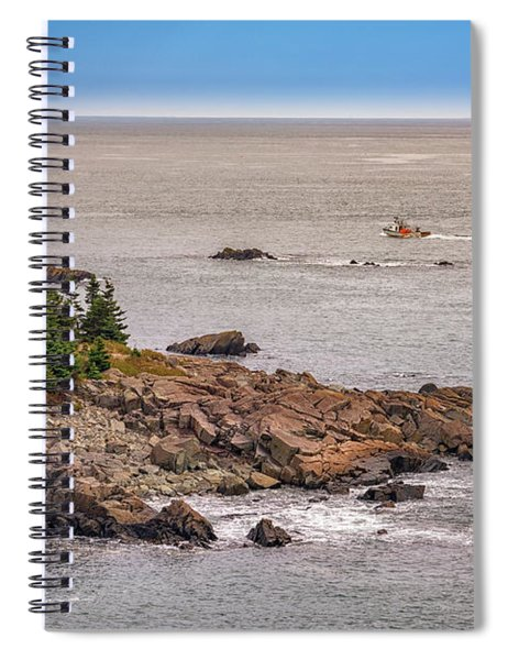 Steaming Through Quoddy Narrows Spiral Notebook
