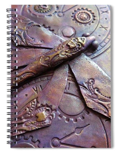 Steampunk Dragonfly Spiral Notebook