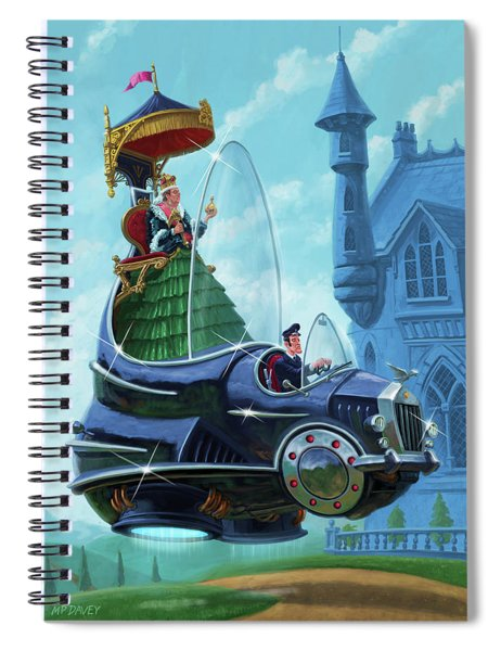 Steampunk Hover Rolls With Queen   Spiral Notebook