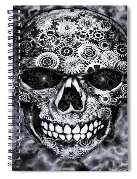 Steampunk Skull Spiral Notebook