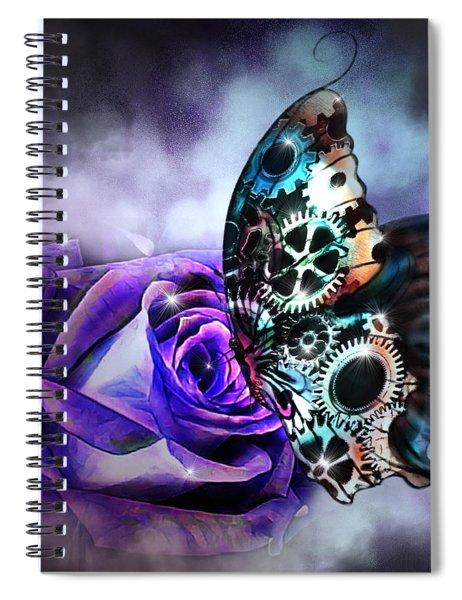 Steel Butterfly Spiral Notebook