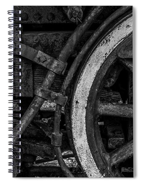 Steel Wheels In Monochrome Spiral Notebook