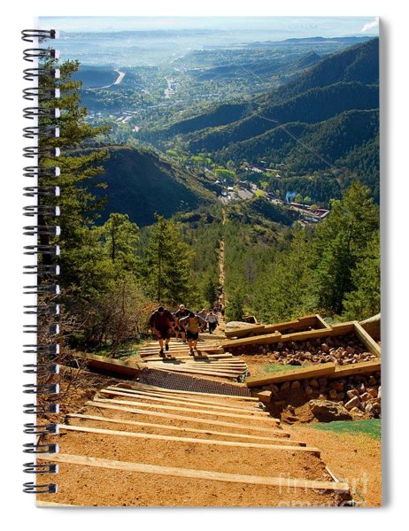 Steep Manitou Incline And Barr Trail Spiral Notebook