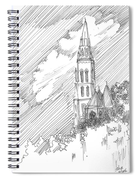 Steeple Of A Church Spiral Notebook