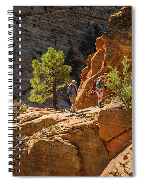 Steeply Up The Canyon Spiral Notebook