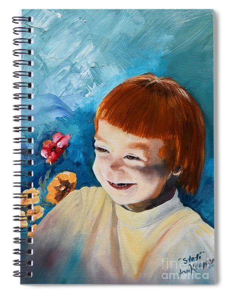 Stefi- My Trip To Holland - Red Headed Angel Spiral Notebook
