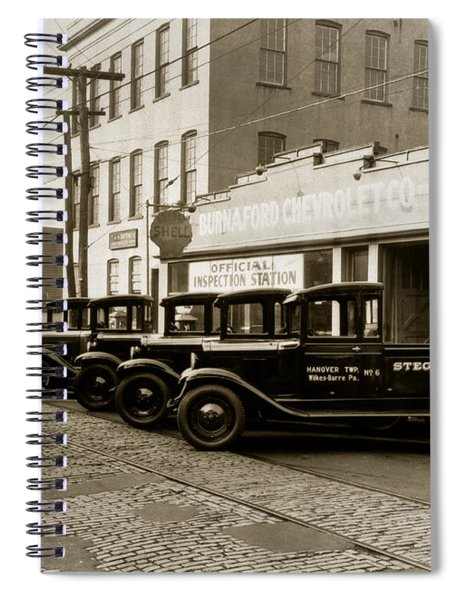 Stegmaier Brothers Inc Beer Trucks At 693 Hazle Ave Wilkes Barre Pa 1930s Spiral Notebook