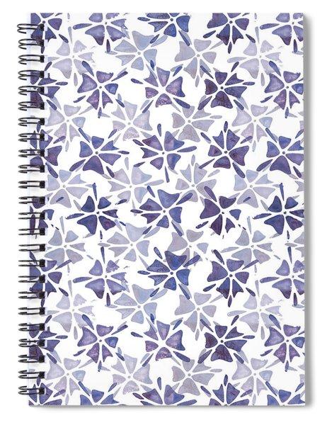 Stencilled Floral Spiral Notebook