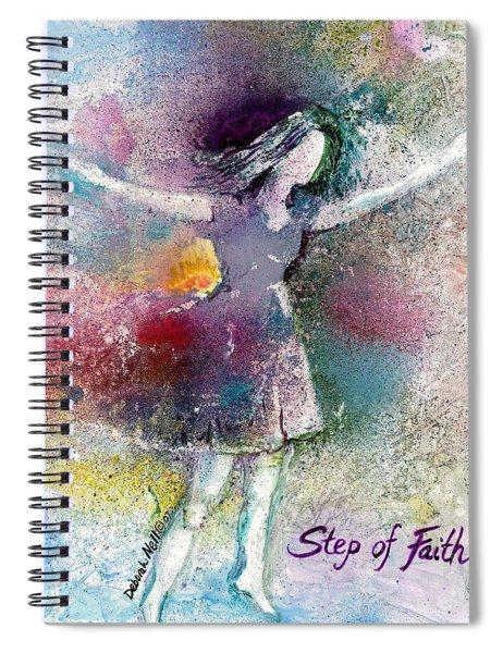 Step Of Faith Spiral Notebook