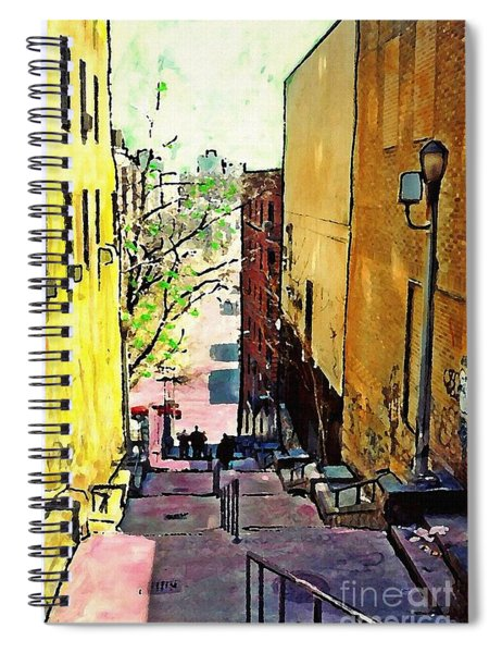 Steps At 187 Street Spiral Notebook