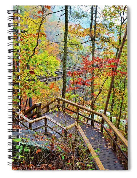 Steps To The Gorge Spiral Notebook