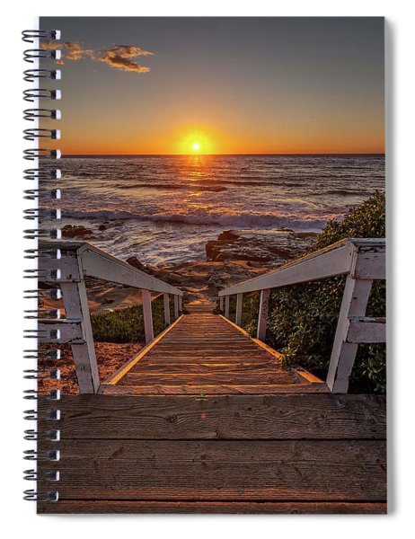 Steps To The Sun  Spiral Notebook