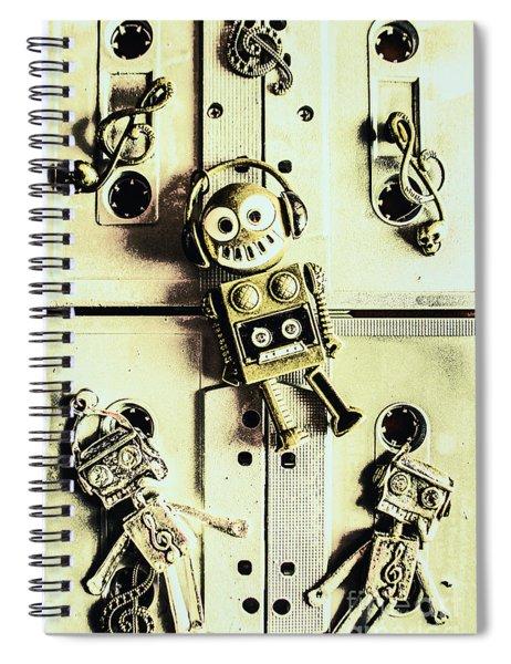 Stereo Robotics Art Spiral Notebook
