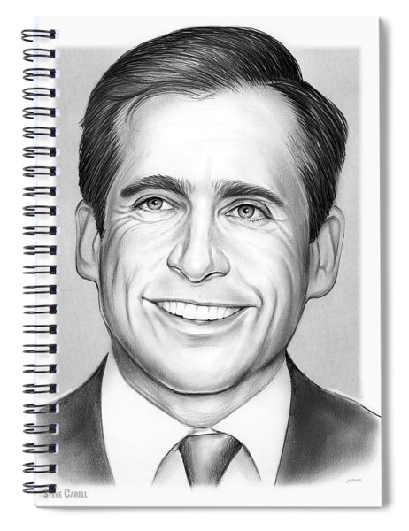 Steve Carell Spiral Notebook